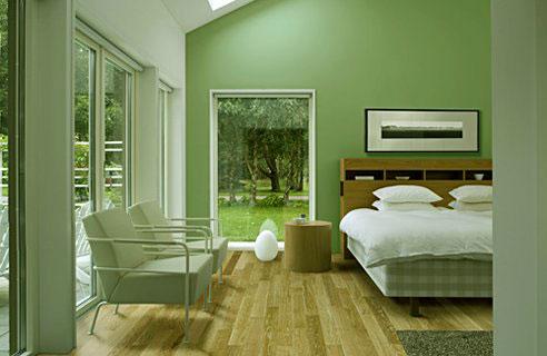 R alisations de peinture l 39 argile dans une chambre - Peinture verte chambre ...