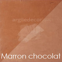 Stuc argile Marron chocolat