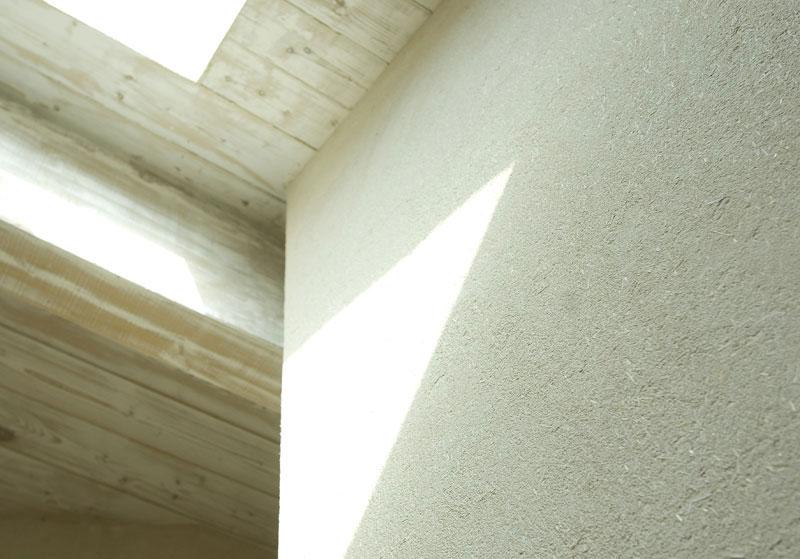 Mur en enduit argile
